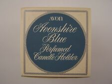 Avon Decanter Avonshire Blue Perfumed Candle Holder Original Box Vintage 1970s