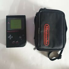 NINTENDO Game Boy CONSOLE ORIGINAL GAMEBOY black with carry case & tetris game