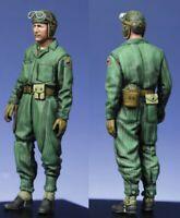 1/35 Resin Figure Model Kit US Soldier Tanker WWII WW2 Unpainted Unassambled