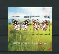 Gambia 2014 MNH Butterflies of World II 2v SS Insects Butterfly Caribbean Sailor