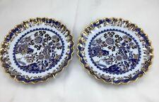 Antique Copeland English Porcelain Wall Hanging Set Of Plates (2)