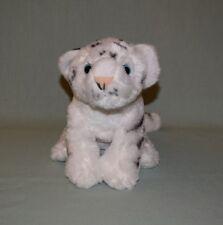 "Plush Wild Republic White Tiger Cub 2012  10"" sitting 16"" head to tail"