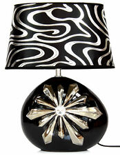 Lampe elegant edel Tischleuchte Tischlampe Nachtlichter Relief stilvoll 164