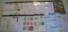 CARDSTOCK DIE-CUTS & STICKERS Mixed Lot 14+ Packs Scrapbook Cardmaking Crafts