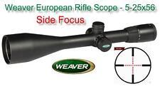 Weaver European Rifle Scope - 5-25x56mm Side Focus 30mm Illuminated Mil Dot