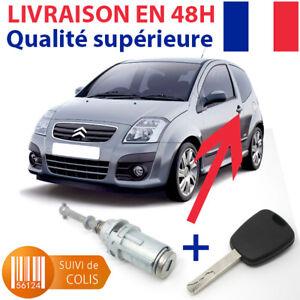 Serrure de porte + 1 clé pour CITROËN C2 AVANT GAUCHE (Barillet anti-corrosion)