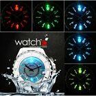 Black/White Men Ladies LED Backlight Quartz Sport Watches Waterproof Watch SOL