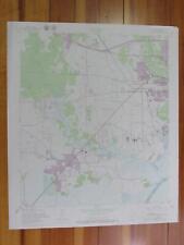 Orangefield Texas 1979 Original Vintage USGS Topo Map