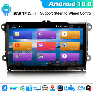 """9"""" DSP CarPlay Android 10.0 Car Stereo For VW Passat Golf Caddy EOS Touran DAB+"""
