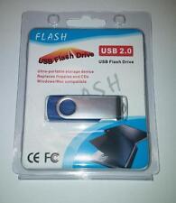 1TB USB 2.0 Flash Drive Disk Memory Pen Stick Thumb Key Storage Swivel Blue A4