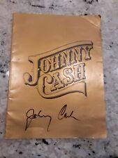 Johnny Cash Autographed Souvenir Photo Booklet Estate Fan Item
