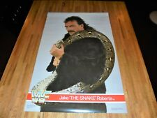 Jake The Snake Roberts Vintage 1988 WWF WWE Poster 34 X 22 Out of Print
