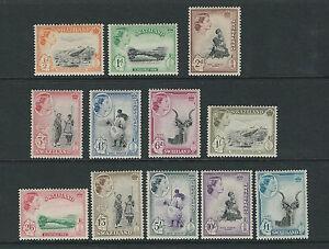 SWAZILAND 1956 QEII definitives complete (Scott 55-66) VF MNH