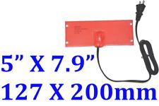 "5"" X 7.9"" 127 X 200mm 100W w/ 65C Thermostat w/ Eyelets w/ US Plug1.7m Cord"