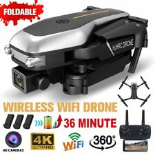 4K 2.4G WIFI FPV Drohne Kamera Faltbar Selfie Quadcopter RC Drone + 3 Batterie