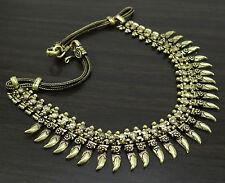 Goldtone Metal Tribal Choker Necklace Boho Gypsy Women Fashion Chunky Jewelry