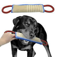 Strong Jute Pet Dog Bite Chew Tug Toys with 2 Handles for Police Dog Schutzhund