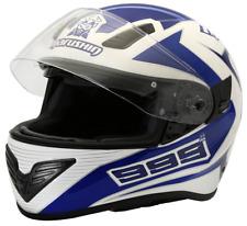 Motorradhelm Marushin 999 RS Comfort Blau / Weiss Integralhelm  Gr. M