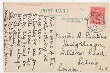 Master R. Plaistowe, Ridgehauger, Hillcrest Road, Ealing 1925 Postcard, B180