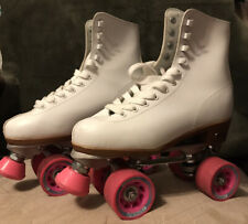 Chicago Women's Classic Roller Skates – White/Pink Rink Skates Size 7 CRS400