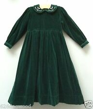 EUC STRASBURG Boutique 6Y 6 6X Green Classic Holiday Velvet Party Dress Gown
