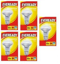 5 x Eveready Eco Halogen R63 Clear E27 Light Bulbs 700 Lumen 46W Screw Warm