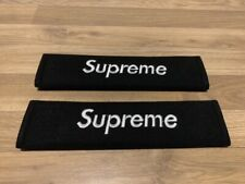 2X Seat Belt Pads Cotton Gifts Present Supreme Black White Clothes Velcro Ford