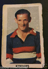1949 KORNIES VICTORIAN FOOTBALLERS CARD GEORGE McLAREN FOOTSCRAY CARD # 108 VFL