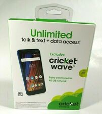 ✰Cricket Prepaid WAVE Mobile Cell Phone - Blue- 8MP Camera- 16GB Storage - NEW✰