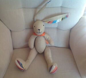 """PAUL SMITH Cream Rabbit / Bunny Soft Toy Jointed Legs 16"""" Tall Excellent Conditi"""