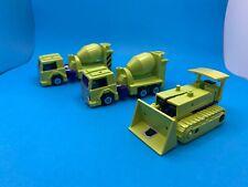 Transformers G1 Vintage Constructicon Figure Lot (3) 1985 Devastator/Bonecrusher