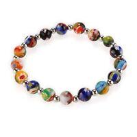 Multicolor Millefiori Lampwork Glass Bracelet Fashion BT D5P4
