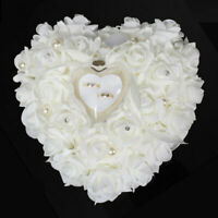 Romantic Rose Wedding Favors Heart Shaped Gift Ring Cushion Pillow Box D1F8