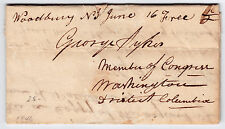 """Stampless Letters x3 - """"FREE"""" to George Sykes, Congress, 1846-7, re: Mexican War"""