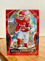 2019 PANINI PRIZM FOOTBALL MECOLE HARDMAN JR #345 RED ICE RARE SP RC - CHIEFS