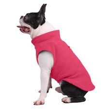 Winter Soft Warm Small Dog Pet Fleece Coat Stand Collar Sweater Cute Jacket UK