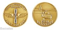 "ARMY AVIATION  UH-60 BLACKHAWK ABOVE THE BEST BRONZE 1.75"" CHALLENGE COIN"