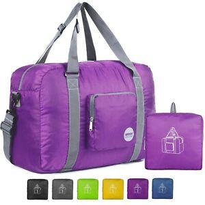 "WANDF 18"" Foldable Duffle Bag 30L for Travel Gym Sports Lightweight Luggage Duff"