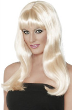 Mystique Wig, Blonde, Long with Fringe and Skin Parting COST-ACC NEW