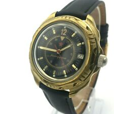 Military Casual Komandirskie Triangle 12 VOSTOK Vintage Formal Watch Date Star