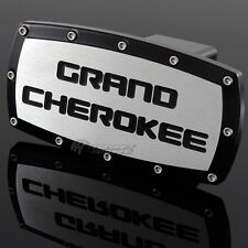 "JEEP GRAND CHEROKEE Hitch Cover Plug Cap 2"" Trailer Tow Receiver W/ BLACK FRAME"