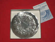 Wendell August Forge - Hammered Aluminum Christmas Plate - 4.5 Inch