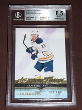 14-15 UD Exclusives SAM REINHART Young Guns Rookie 49/100 YG RC Graded BGS 8.5