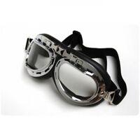 Motorradbrille Fliegerbrille Biker-Brille ATV Quad Oldtimer Retro 102
