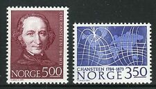 NORWAY 1984 C.HANSTEEN/ASTRONOMY/SCIENCE/MAGNETIC MERIDIANS/PARALLELS/MAP MNH