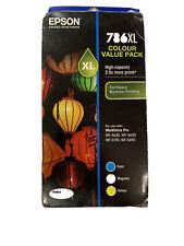 Genuine Epson 786XL Colour Value Pack Cyan Magenta Yellow WF-4630 4640 5190 5690