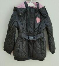 s.Oliver Jacke Steppjacke Winterjacke Mädchen mit Kapuze grau rosa Gr.110 NEU