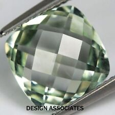 14 MM GREEN AMETHYST CUSHION CUT CHECKERBOARD TOP AAA ALL NATURAL
