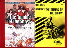 Taming of the Shrew by William Shakespeare & Cliff Notes study guide - Free Ship