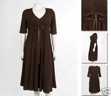 NEW Zaftique ADJUSTABLE SWEETHEART Dress COFFEE Brown 00Z / 12 / Medium